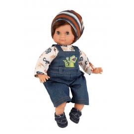 Schildkröt Puppe Schlummerle Junge 32 cm braune Haare, blaue Schlafaugen, Dinokleidung