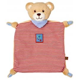 Schnuffeltuch Teddy BabyGlück, rot