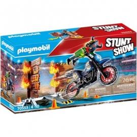 Playmobil® 70553 - Stuntshow - Stuntshow Motorrad mit Feuerwand