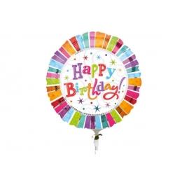 Jumbo Radiant Birthday Happy Birthday Folienballon P45 verpackt