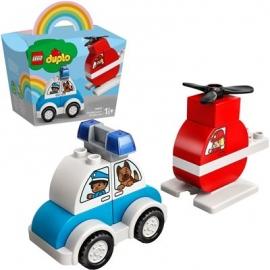 LEGO® DUPLO® 10957 - Mein erster Feuerwehrhubschrauber und mein erstes Polizeiauto