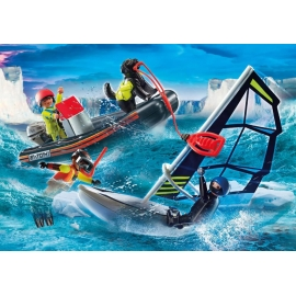 Playmobil® 70141 Seenot: Polarsegler-Rettung mit Schlauchboot