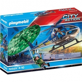 Playmobil® 70569 - City Action - Polizei - Hubschrauber Fallschirm-Verfolgung