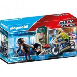 Playmobil® 70572 - City Action - Polizei - Motorrad Verfolgung des Geldräubers