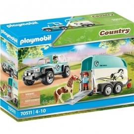 Playmobil® 70511 - Country - PKW mit Ponyanhänger