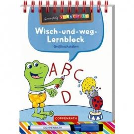 Coppenrath Verlag - Lernerfolg Vorschule - Großbuchstaben - Wisch-&-weg-Lernblock