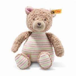 Steiff Teddybär.Rosy 24 hellbraun/blau