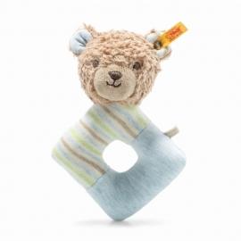 Steiff Teddybär.Rudy 15 hellbr./blau R