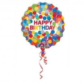 Jumbo Primary Rainbow Birthday Folienballon, P40, verpackt, 71 x 71cm