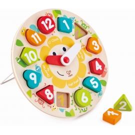 Hape - Steckpuzzle Uhr, 13 Teile