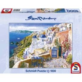 Schmidt Spiele - Puzzle - Blick von Santorin, 1000 Teile