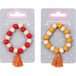 Holz-Armband mit Tassel beautiful Stars, sortiert