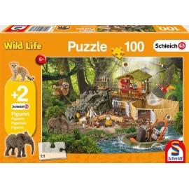 Schmidt Spiele - Puzzle - Schleich - Forschungsstation Croco, 100 Teile