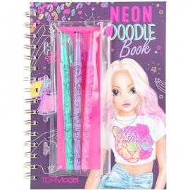 Depesche - TOPModel Neon Doodle Malbuch-Set