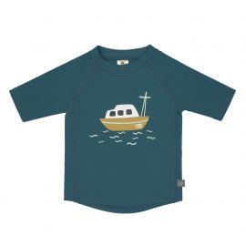 LSF Short Sleeve Rashguard Boat blue, 06 months, S
