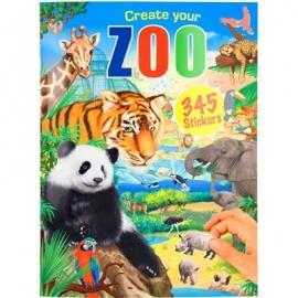 Depesche - Create your ZOO, Malbuch mit Stickern