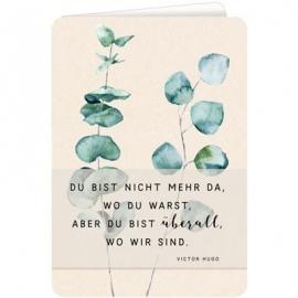 Coppenrath Verlag - Trauerkarte - Blätterranke