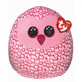 Ty - Squish a Boo Kissen - Pinky Eule, 20 cm