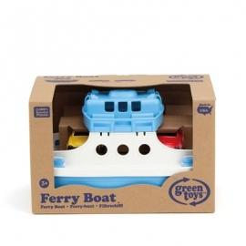 Green Toys - Fährschiff blau/weiss mit 2 Mini-Autos
