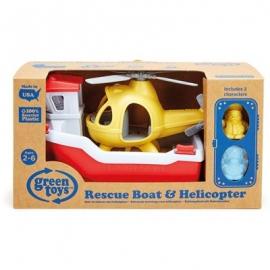 Green Toys - Rettungsboot & Hubschrauber 4 Teile