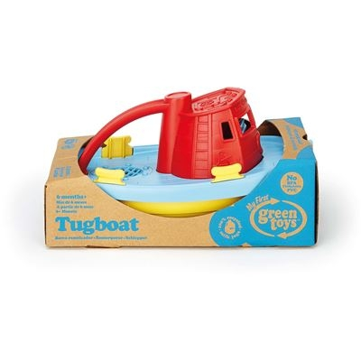 Green Toys - Schleppboot rot