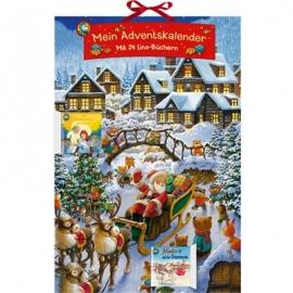 Coppenrath Verlag - Mein Adventskalender - Mit 24 Lino-Büchern, Buch-Adventskal.