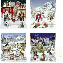 Coppenrath Verlag - Edition Barbara Behr - Nostalgische Winterwelten, Mini-Adventskalender