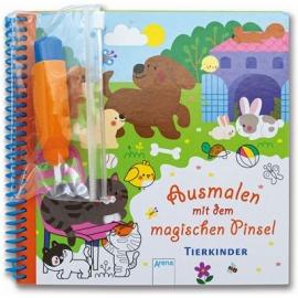 Arena Verlag - Ausmalen mit dem magischen Pinsel - Tierkinder