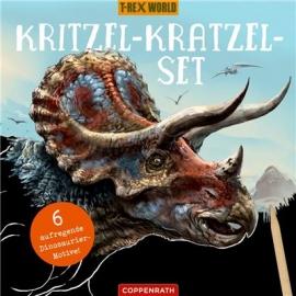 Coppenrath Verlag - T-RexWorld - Kritzel-Kratzel-Set, Triceratops