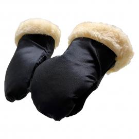 Stroller Mitt - Lammfell Kiwa Handschuh - schwarz