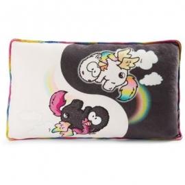 NICI - Theodor & Friends - Kissen Rainbow Yin & Rainbow Yang rechteckig 43x25cm