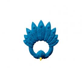 Beissring  Pfau blau