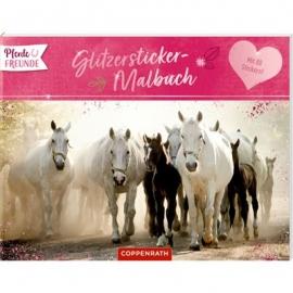 Coppenrath Verlag - Pferdefreunde - Glitzersticker-Malbuch