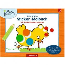 Coppenrath Verlag - Mini-Künstler - Mein 1.Sticker-Malbuch m. kunterbunten Punkten