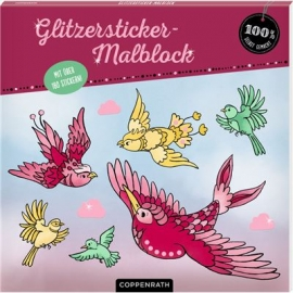 Coppenrath Verlag - 100% selbst gemacht - Glitzersticker-Malblock