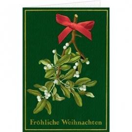 Coppenrath Verlag - Weihnachtskarte m.Schleife und Kuvert Fröhliche Weihnachten
