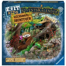 Ravensburger - EXIT Adventskalender kids - Dschungel-Abenteuer