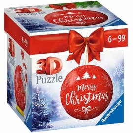 Ravensburger - Puzzle-Ball Weihnachtskugel Merry Christmas, 54 Teile
