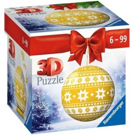 Ravensburger - Puzzle-Ball Weihnachtskugel Norweger Muster, 54 Teile