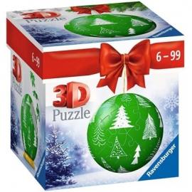 Ravensburger - Puzzle-Ball Weihnachtskugel Tannenbaum, 54 Teile