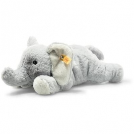 Steiff - Soft Cuddly Friends Elna Elefant 28 hellgrau liegend