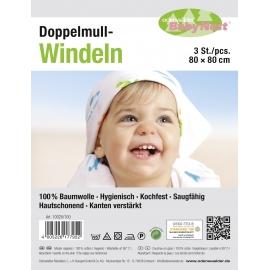 Doppelmull-Windeln 3er-Pack
