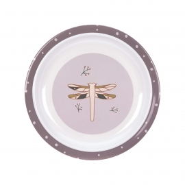 Plate Melamine/Silicone Adventure Dragonfly